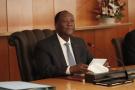 Alassane Ouattara, en janvier 2020, au Palais présidentiel.