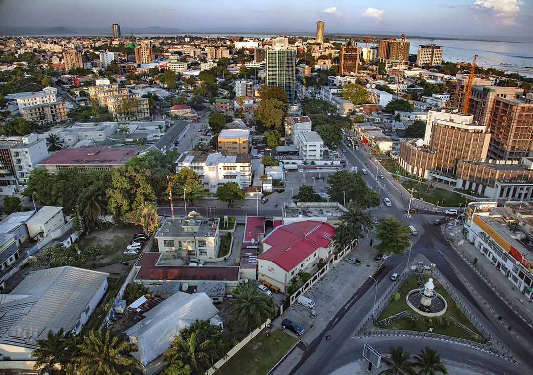 Vue du centre ville de Brazzaville, en novembre 2018.