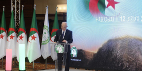 Mohamed Charfi, chef de l'Autorité nationale indépendante des élections (Anie), s'exprime à Alger lors d'une conférence de presse sur le niveau de participation aux élections générales anticipées, le 12 juin 2021.
