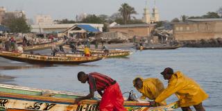 Plage de Soumbédioune, à Dakar.