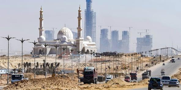 Le mégaprojet de «nouvelle capitale administrative du Caire», en Égypte, le 7 mars 2021.