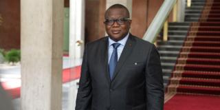 Le ministre ivoirien de la Communication, Amadou Coulibaly, le 7 avril 2021 à Abidjan.