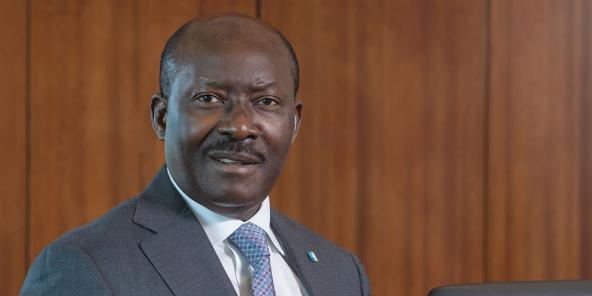 Le Gabonais Henri-Claude Oyima, PDG de BGFI