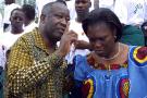 Laurent et Simone Gbagbo, à Abidjan, en septembre 2004.