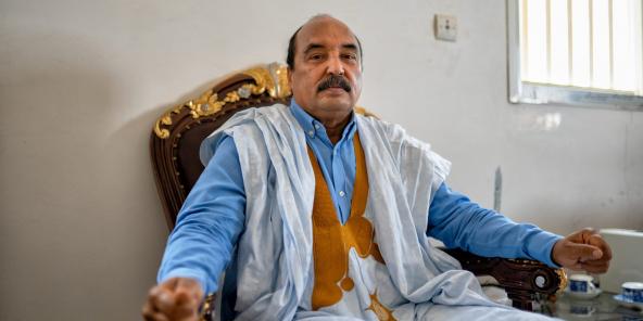 Mohamed Ould Abdelaziz à Nouakchott, en avril 2021.