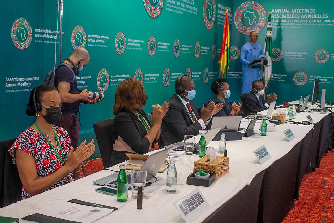 Une grande partie des échanges durant cette assemblée annuelle a eu lieu de façon virtuelle, même si plusieurs partenaires de l'institution panafricaine ont fait le déplacement au siège, à Abidjan.