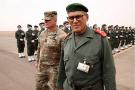 Une Partie du Haut-commandement vient d'atterrir à la base de Grier Labouhi. En tête de cortège, le Général marocain El Farouk, haut commandant de la zone sud, qui a présidé la cérémonie d'ouverture de l'African Lion.