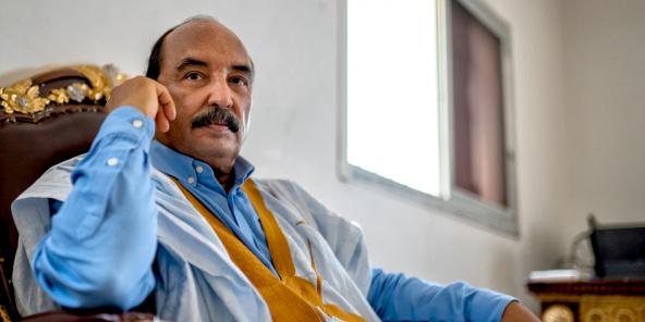 Mohamed Ould Abdelaziz, à Nouakchott, le 12 avril 2021.