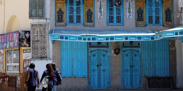 Quelque 80 % des hôteliers tunisiens estiment avoir perdu 50 % de leur chiffre d'affaires en 2020. El Jem, en Tunisie, le 20 mai 2021.