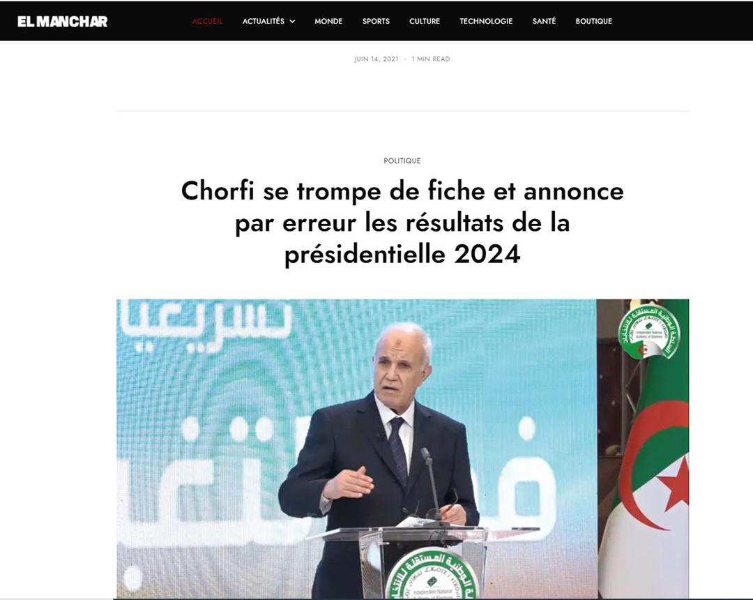 Capture d'écran El Manchar