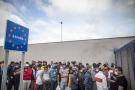 Migrants à la frontière entre le Maroc et l'Espagne.