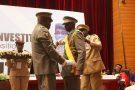 Le colonel Assimi Goïta, lors de sa prestation de serment comme président de la transition au Mali, le 7 juin 2021 à Bamako.