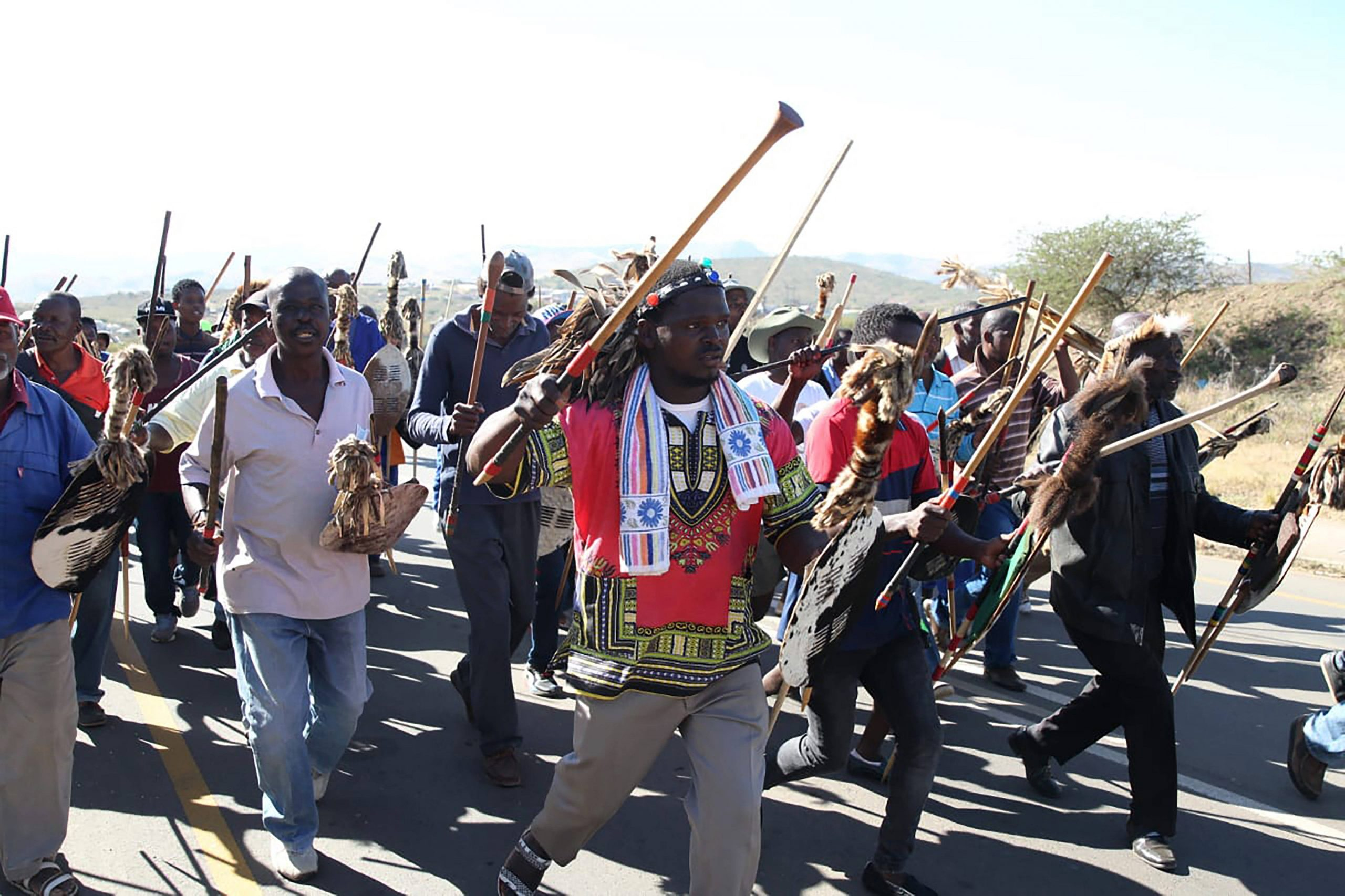 Des partisans de Jacob Zuma manifestent