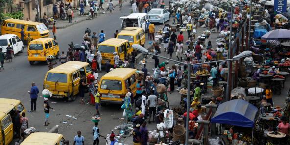 Un marché à Lagos, au Nigeria, en octobre 2020 (illustration).