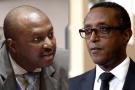 Albert Shingiro, ministre des Affaires étrangères du Burundi (g.), et son homologue rwandais, Vincent Biruta.