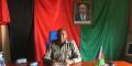 Agathon Rwasa, président du Congrès national pour la Liberté (CNL), à son bureau, en juin 2021.