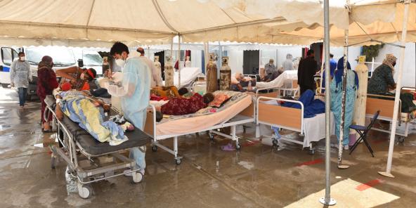Situation catastrophique et engorgement à l'hôpital régional de Beja, le 8 juillet 2021.