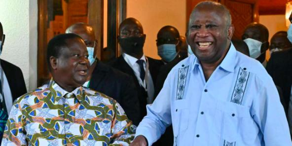 Laurent Gbagbo rend visite, samedi 10 juillet 2021, à son ancien rival Henri Konan Bédié.