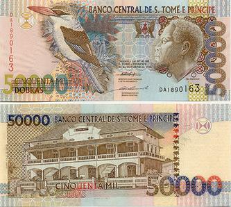 50 000 dobras, monnaie de Sao Tomé-et-Principe.