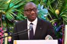 Souleymane Diarrassouba, ministre ivoirien du Commerce et de l'Industrie, le 29 juin 2017 à Abidjan.