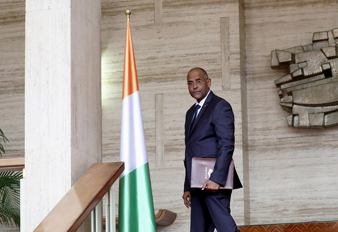 Patrick Achi, au palais présidentiel en septembre 2019.