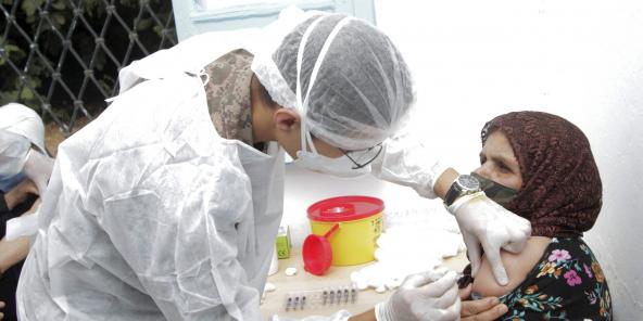 Vaccination contre le Covid-19 à Kesra, en juillet 2021