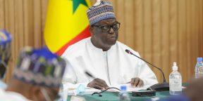 Moustapha Niasse, président de l'Assemblée nationale sénégalaise, le 25 novembre 2020 au palais présidentiel.