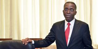L'ex-Premier ministre congolais, Matata Ponyo, dans son bureau de la primature.