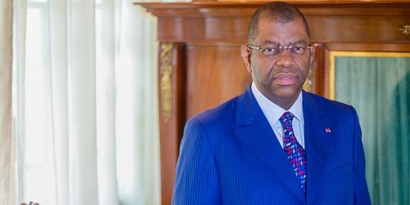 Alexandre Barro Chambrier, à Libreville en juillet 2015.