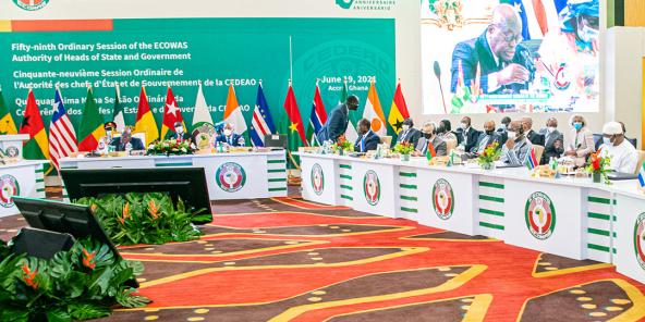 59esession ordinaire de la CEDEAO-71, le 19 juin 2021, à Accra.