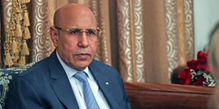 Mohamed Ould Ghazouani, lors de l'entretien avec Jeune Afrique, le 23 juillet à Nouakchott.