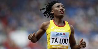 L'athlète ivoirienne Marie-Josée Ta Lou, le 8 septembre 2018.