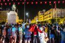 Manifestations sur l'avenue Habib-Bourguiba, à Tunis, le 25 juillet 2021, après l'allocution du président, Kaïs Saïed.