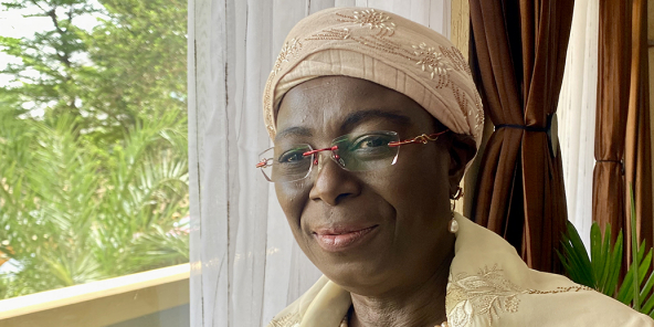 Ousseini Hadizatou Yacouba, Ministre des Mines, dans son bureau à Niamey, le 16 juillet 2021.