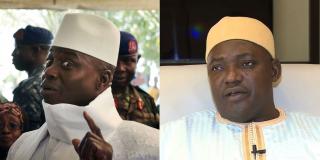 Yahya Jammeh, l'ancien homme fort de Banjul, et Adama Barrow, le président gambien.