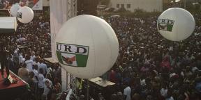 Rassemblement électoral des partisans de l'URD (Union pour la République et la démocratie) à Bamako le8juillet2018.