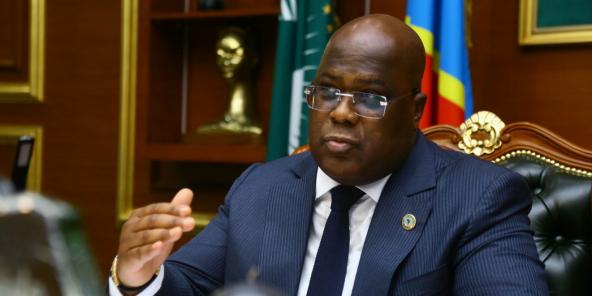 Félix Tshisekedi à Kinshasa, le 20 juillet 2021.