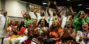 Membres de la diaspora éthiopienne, à Washington, le 28 juillet 2018.