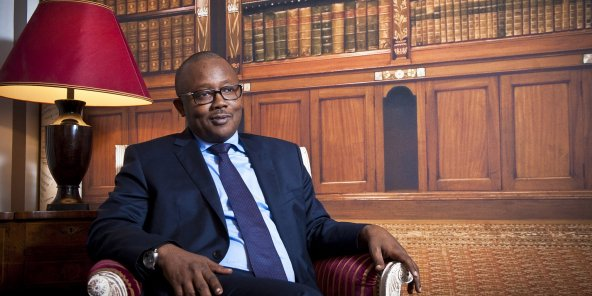 Umaro Sissoco Embaló, le président bissau-guinéen, à Paris, le 21 janvier 2020.