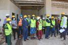 Visite du chantier du complexe de l'UEMOA par des députés de l'organisation, à Lomé, le 14 août 2021.
