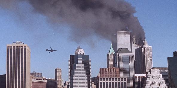 Attentat contre la tour sud du World Trade Center, à New York, le 11 septembre 2001.
