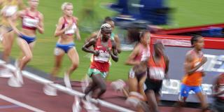 La Burundaise Francine Niyonsaba à la finale du 10 000 mètres, aux jeux de Tokyo, le 7 août 2021.
