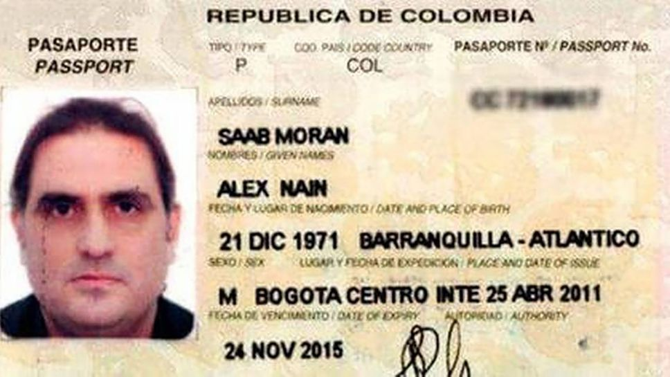 Passeport colombien d'Alex Saab.