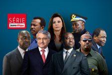 De haut en bas et de gauche à droite : Mengistu Hailé Mariam, Leïla Ben Ali, John Numbi, François Bozizé, Chabib Khelil, Guillaume Soro, Karim Keïta et François COmpaoré.