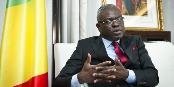Anatole Collinet Makasso, Premier ministre du Congo (Brazzaville), à Paris, le 31 août 2021.