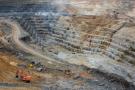 La mine de cuivre Frontier à Sakania, à la frontière avec la Zambie, à l'extrême sud-est de la province minière du Katanga, en RDC.