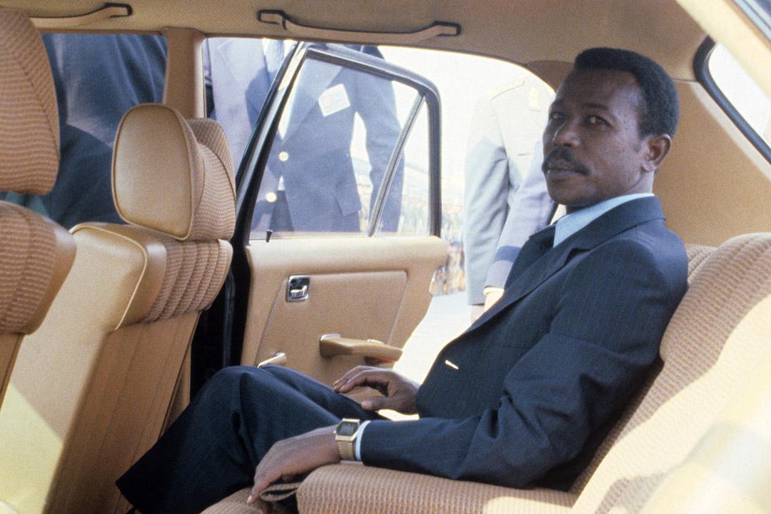 Mengistu Hailé Mariam à Belgrade pour les funérailles de Tito, le 8 mai 1980.