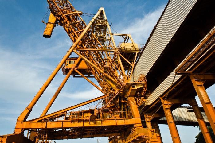 Port de Conakry, minerai de bauxite Le 9 novembre 2010. Guinée, Conakry.