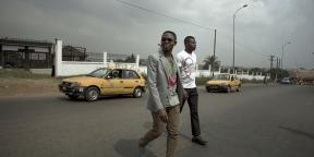 Serge Yotta dans la banlieue de Yaoundé.