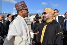 Le président nigérian Muhammadu Buhari et le roi du Maroc Mohammed VI, en 2018, à Rabat.